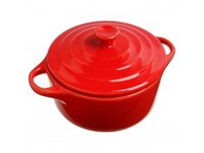 Keramické nádobí, keramický hrnec pro zapékání, nádobí pro dezertů, žáruvzdorné nádobí, nádobí pro servírování dipů -  Ø 10 cm, barva červená, 200 ml Snips