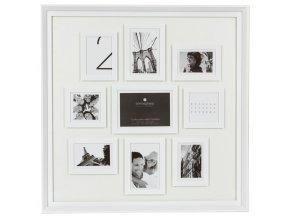 Obdélníkový rámeček pro 9 fotek, fotorámeček, rámeček na fotky - mini galerie na fotky, barva bílá