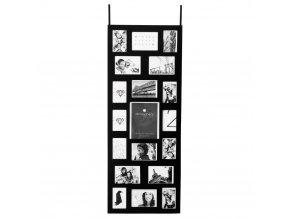 Obdélníkový rámeček pro 19 fotek, zavěšení na dveře, fotorámeček, rámeček na fotky - mini galerie na fotky