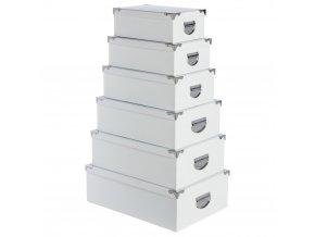 Úložný box, krabička na drobnosti, organizér pro uchovávání, 6 ks - barva bílá