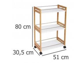 Kuchyňský vozík, univerzální stolek, vozík na kolečkách, multifunkční vozík, stolek na kolečkách,