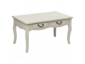 Dřevěný stůl, toaletní stolek, CHRYSA, se dvěma zásuvkami, příležitostný stolek, 48x80x44 cm