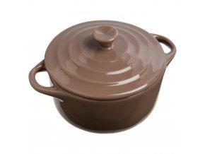 Keramické nádobí, keramický hrnec pro zapékání, nádobí pro dezertů, žáruvzdorné nádobí, nádobí pro servírování dipů -  Ø 10 cm, hnědá barva, 200 ml