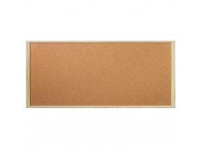 Korková tabule na poznámky, 40x90 cm, Emako