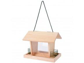 Krmítko pro ptáky - dřevěný domek
