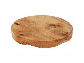 Kruhové, dřevěné prkénko pro servírování občerstvení