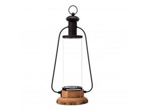 Lucerna, skleněná lucerna, podlouhlá lucerna, dekorace pro domov, 20 x 15 x 45 cm
