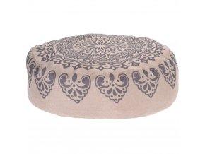 Kulatý polštář, kulatá poduška, dekorační -  45 x 45 cm, šedá barva Home Styling Collection