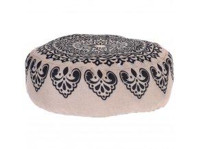 Kulatý polštář, kulatá poduška, dekorační -  45 x 45 cm, černá barva Home Styling Collection