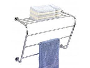 Věšák na ručníky Power-Loc Elegance + koupelnová police, 2 v 1