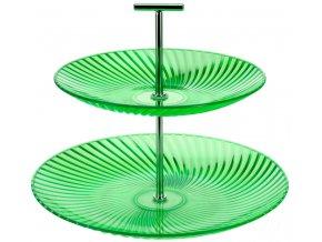 EH Excellent Houseware Barevný patrový talíř, talíř na dorty  2 úrovně