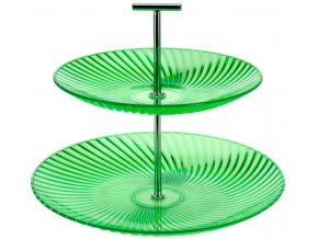 Barevný patrový talíř, talíř na dorty - 2 úrovně