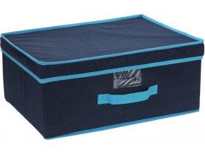 Storagesolutions Skládací textilní kontejner s víkem  29 l