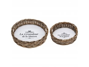 Kulatý podnos snídaňový LA GRANDEUR - 2 ks