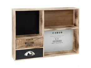 Skříňka na drobnosti CARGO -  úložný box s 2 zásuvkami i 3 přihrádkami