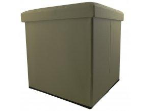 Taburet, kontejner  s víkem - 2 v 1