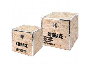 Víceúčelový box STORAGE, kontejner pro uchovávání - 2 ks