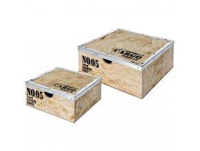 Multifunkční krabička CARGO, kontejner pro uchovávání - 2 ks v sadě