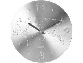 Nástěnné hodiny WORLD ALUMINIUM, ∅ 35 cm