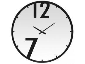 Kulaté nástěnné hodiny MIRROR , skleněné