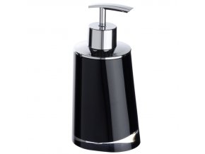 Dávkovač na mýdlo PARADISE, barva černá - 200 ml, WENKO
