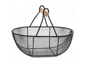 Mini košík na drobné předměty, dekorace - kovový, 20 x 14 x 15 cm