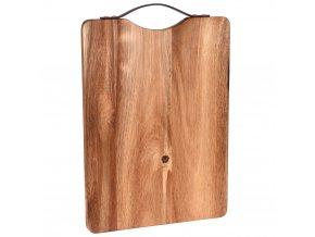 Kuchyňská deska pro krájení - obdélníkové, akátové dřevo, 36 x 26 cm