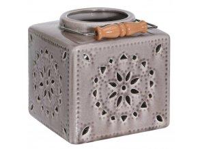 Keramický lucerna ozdobný, dekorativní - barva růžová