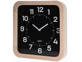 Home Styling Collection Nástěnné dřevěné hodiny, čtvercový  30 x 30 cm