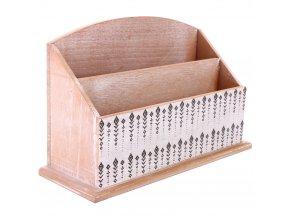 Pořadatel na kancelářský stůl WOOD - dřevěný, 3 přihrádky