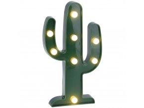 Home Styling Collection Zářící výzdoba CACTUS, figurka LED