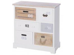 EH Excellent Houseware Skříňka, prádelník  úložný box s 6 zásuvkami