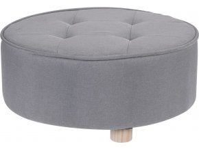 Home Styling Collection Taburet, sedátko, opěrka nohou, šedá barva   52 x 22 cm
