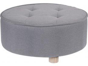 Taburet, sedátko, opěrka nohou, šedá barva -  52 x 22 cm