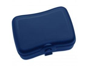 Krabička na svačinu  BASIC, svačinovka - barva modrá, KOZIOL