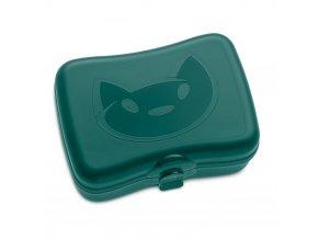 Krabička na svačinu MIAOU, svačinovka - barva zelená, KOZIOL
