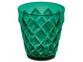 Sklenička CRYSTAL S - barva zelená, 0,20 l, KOZIOL