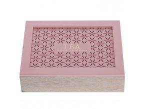 Dřevěný box na čaj  - 6 přihrádek