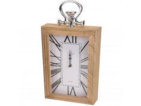 Emako Dřevěné hodiny,stolní, nástěnné, římské číslice