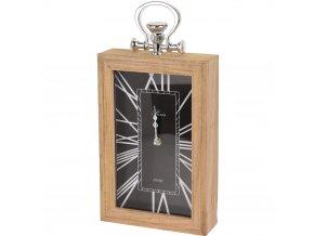 Dřevěné hodiny,stolní, nástěnné, římské číslice