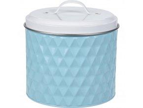 Kovová kulatá nádoba  pro uchovávání, barva modrá, Ø 17 cm