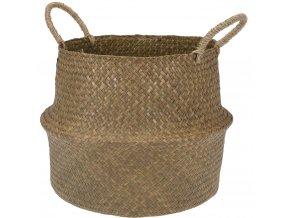 Proutěný košík z mořské trávy,  pro ukládání předmětů, 38x38x20 cm