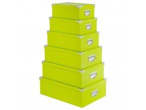 Úložný box, krabička na drobnosti, organizér pro uchovávání, 6 ks - barva zelená
