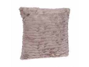Dekorativní polštář, polštářek s imitace kožešiny, polyester 45x45 cm, hnědá barva