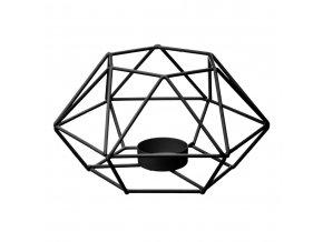 Svícen, držák svíčky, svíčka, kovový TEALIGHT, kovová konstrukce, 17 x 15 x 9 cm