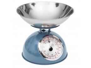 Mechanická váha, kuchyňská váha, designová váha  RETRO DESIGN, 5 kg, barva modrá