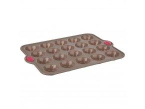Secret de Gourmet Silikonová forma na pečení cukroví, forma na muffiny, mini muffiny, forma na mini bábovek, 20 ks