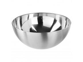 Košík na ovoce, kovová misa, mísa na ovoce, mísa na saláty, mísa na cukrovinky  - chromovaná ocel, Ø 29 cm, stříbrná barva