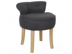 Židle, taburet, stolička, stolička s opěradlem, barva tmavě šedá