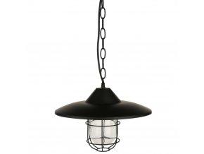 Stropní svítidlo, závěsná svítidla, kovová svítidla, černá barva, matná, Ø 30 cm
